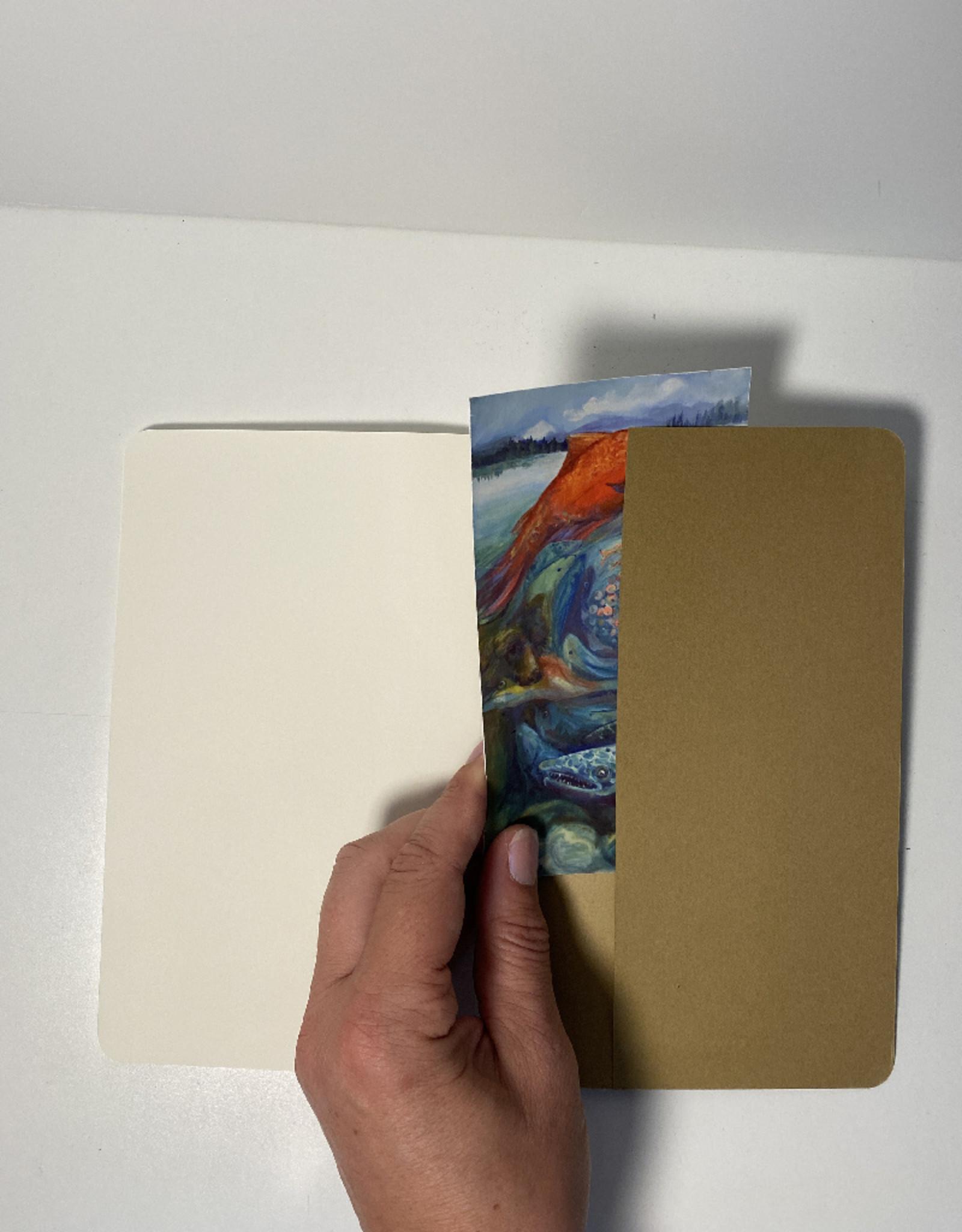 Jennifer Cook-Chrysos Chrysos Designs Artworks, Moleskine sketchbook, 5.5 x 7.5, Girl at Sea cover and 3B art pencil.