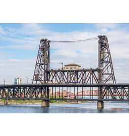 """Mark Clifford Steel Bridge, 20"""" by 14"""" matted Photographic Print"""