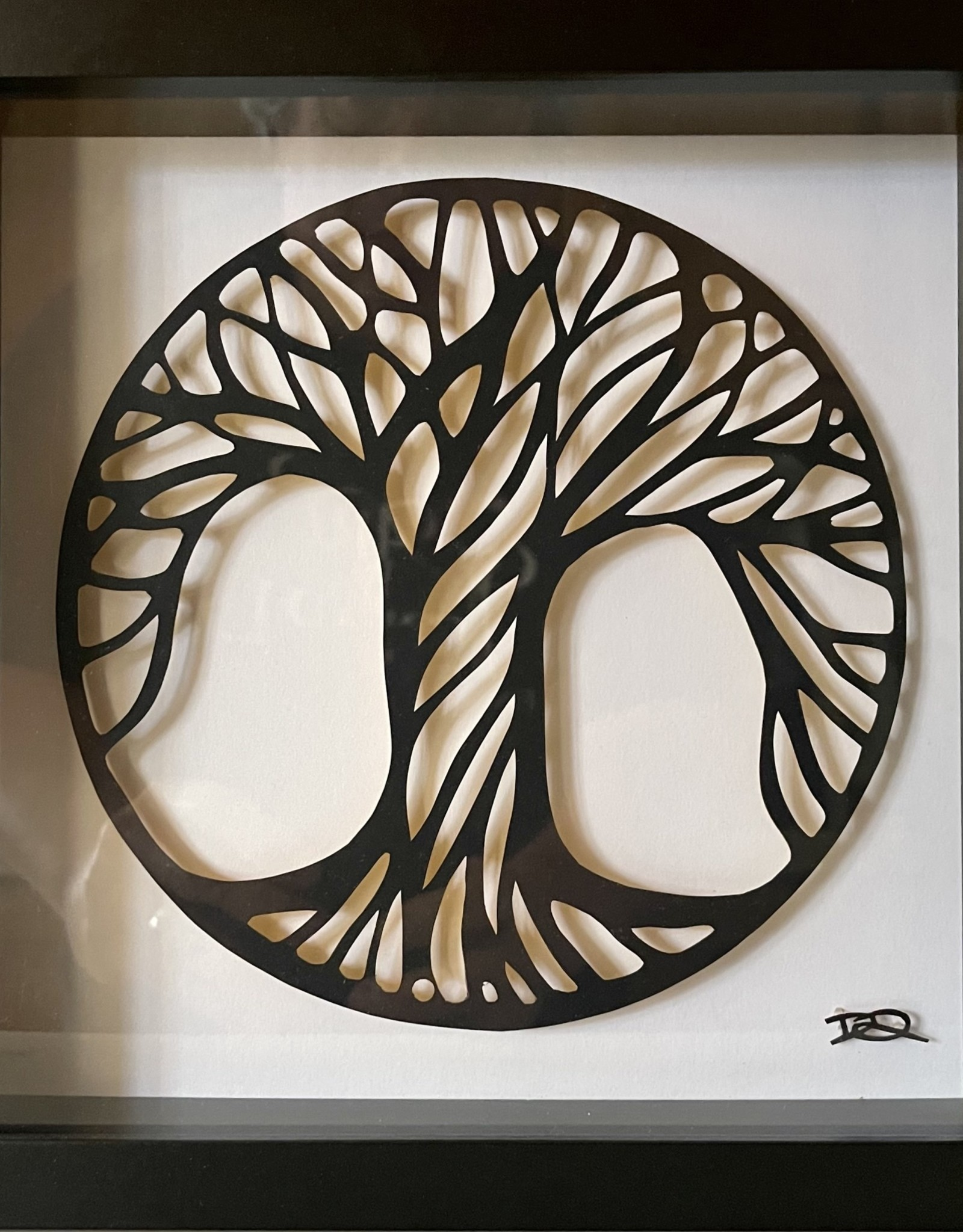 David Friedman Circle Tree - Papercutting Handcut