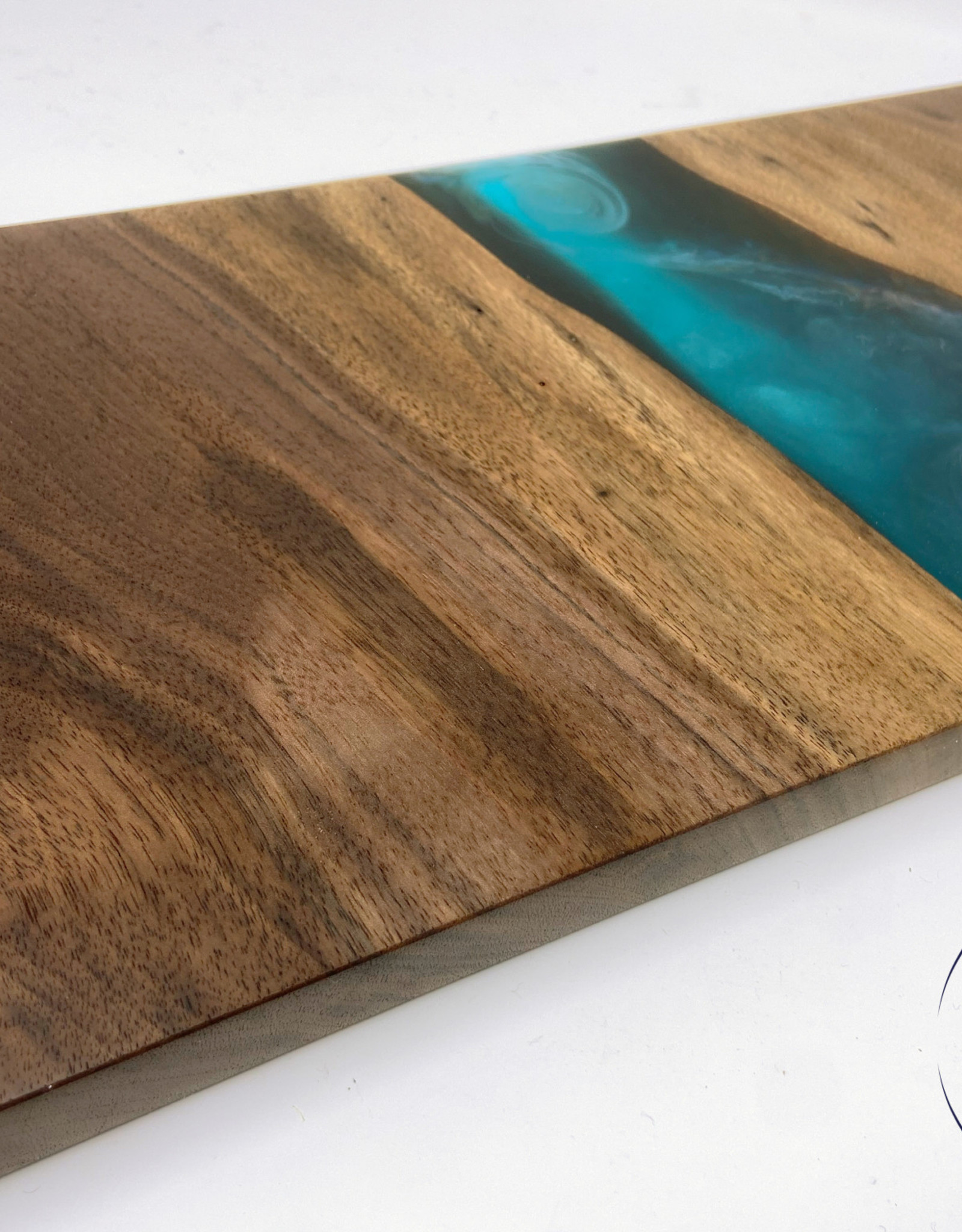 """Ron and Ellie Purvis MHC - """"Fae"""" Maple Wood and Resin Serving Tray"""