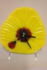 Ann Mackiernan Poppy Clock - Yellow