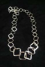 Susan Hunter Bodie/Three-Dimentional Fine Silver Necklace