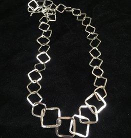 Susan Hunter Bodie/Three-Dimensional Fine Silver Link Necklace