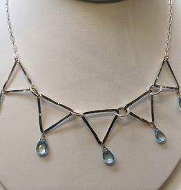 Susan Hunter Bodie/Blue Topaz + Silver Necklace