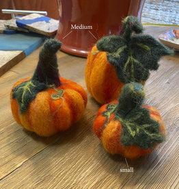 Jennifer Cook-Chrysos Chrysos Designs Artworks, Felted Pumpkin, Medium