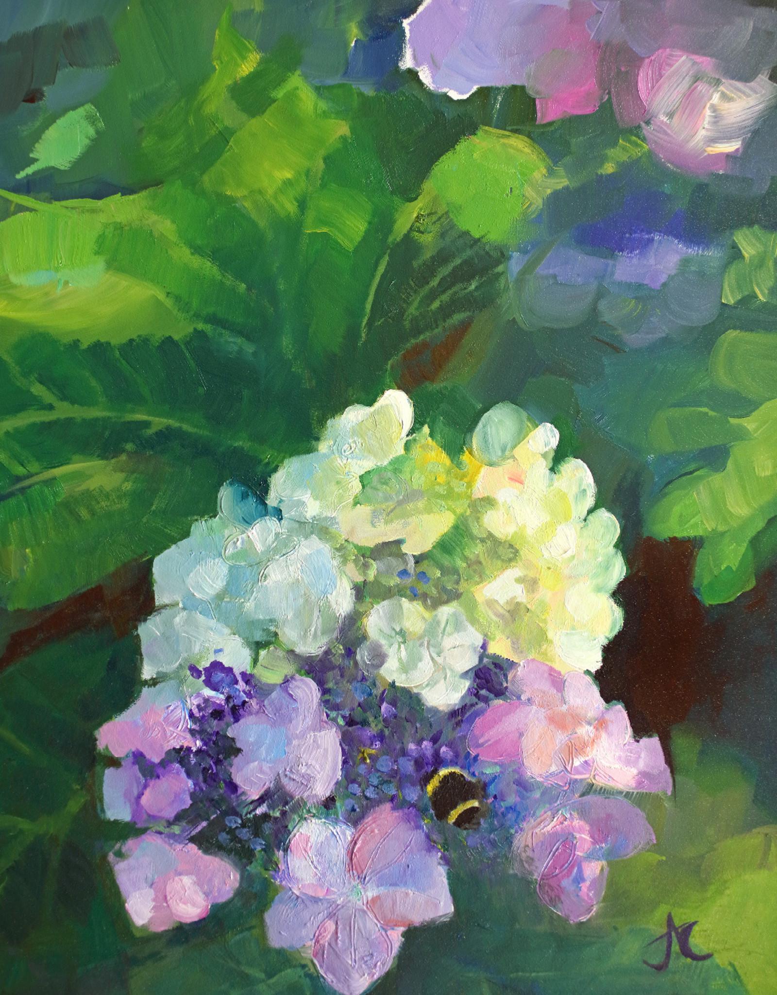 Jennifer Cook-Chrysos Chrysos Designs Artworks, Lacecap 1, oil on panel, 11 x 14