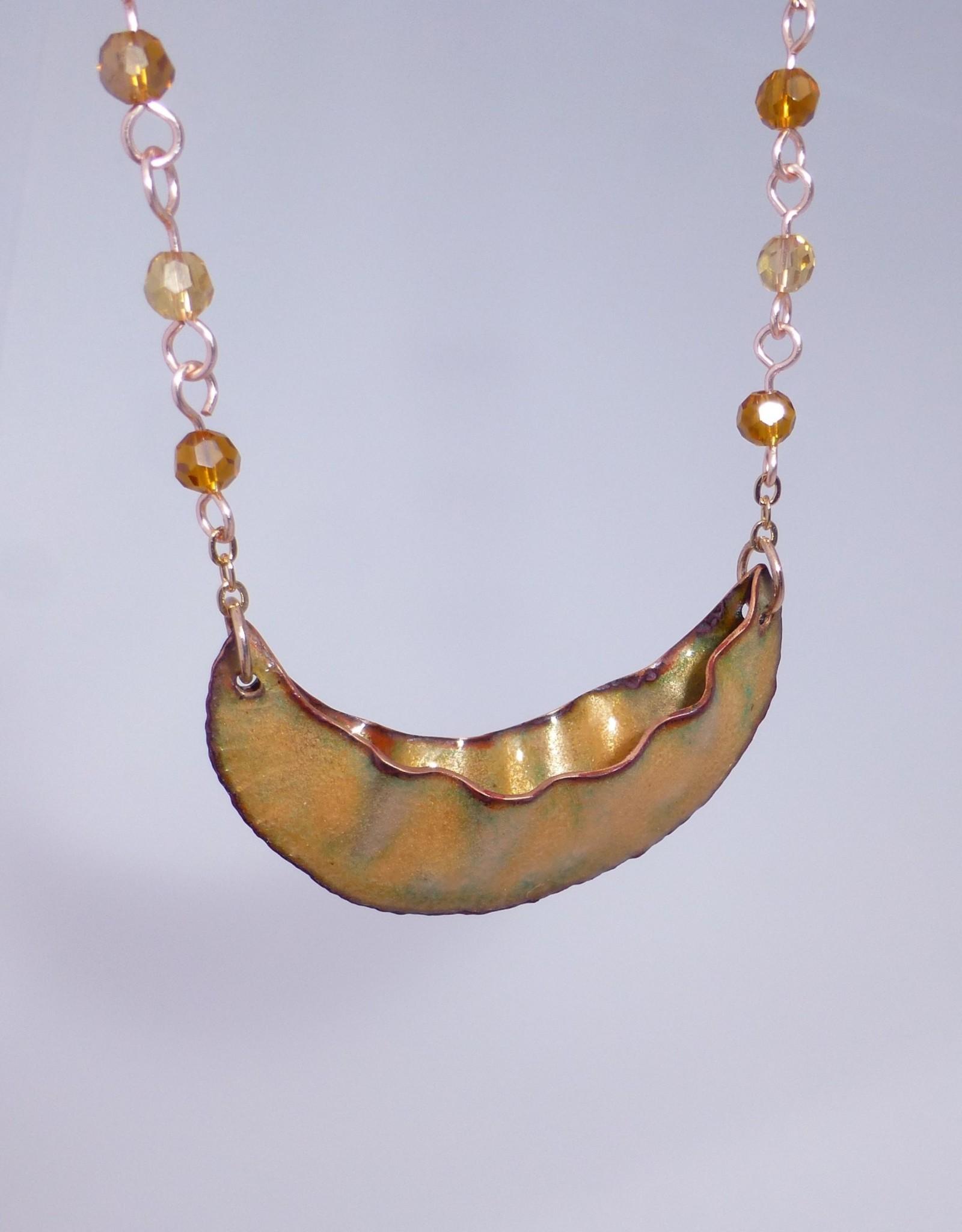 Anne Johnson AJE - Rueger Canoe Pendant / Golden