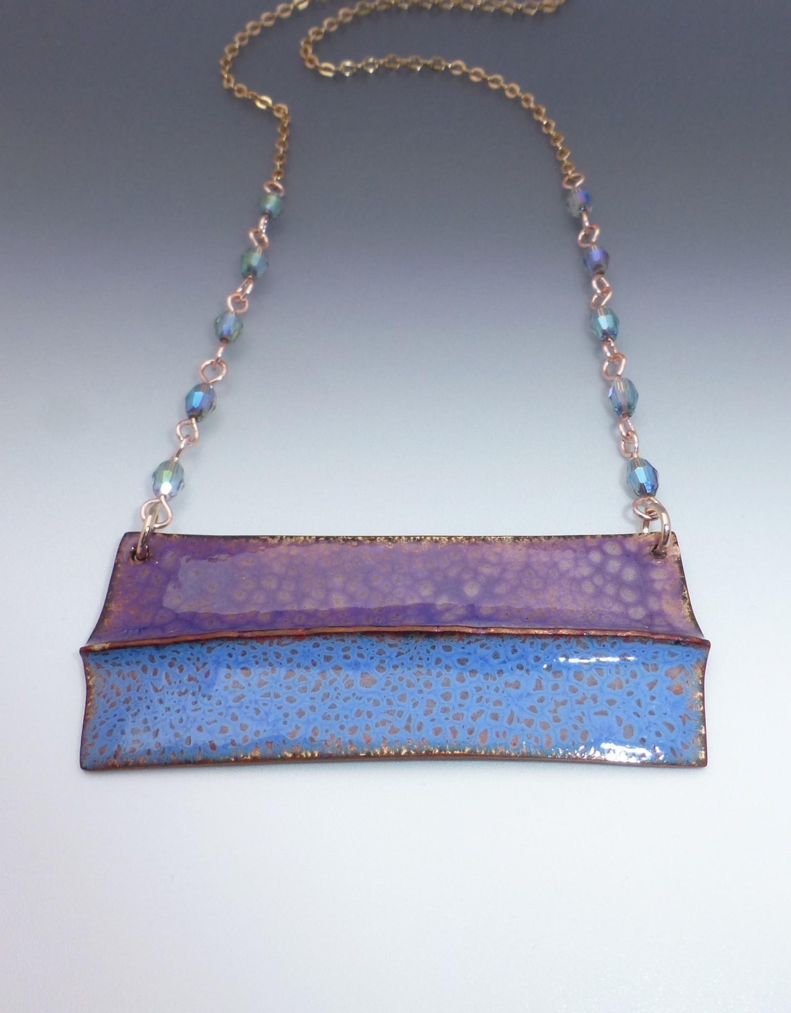 Anne Johnson AJE - Divide Pendant / Purple & Blue