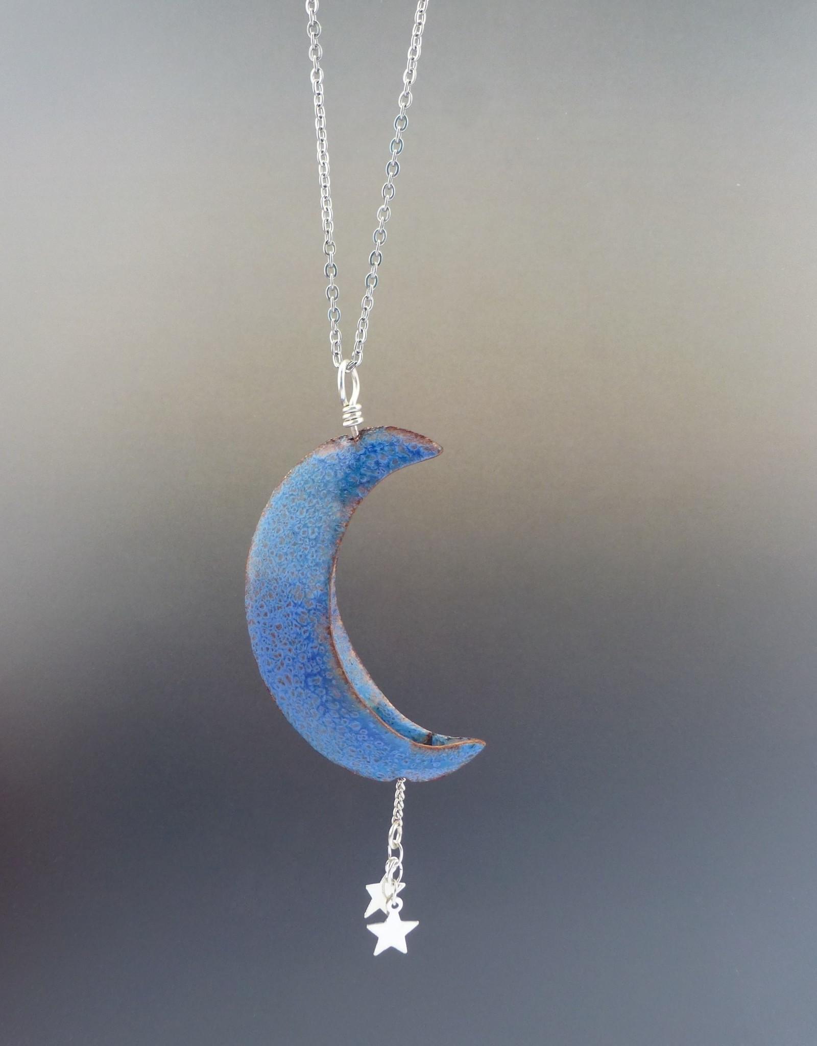 Anne Johnson AJE - Moon-n-Stars Pendant / Light Blue