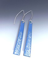Anne Johnson AJE - Dangle Earrings - Periwinkle Blue & Silver Glitter