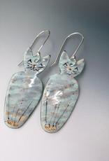 Anne Johnson AJE - Meow! Earrings - Grey Tabby Cat
