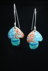 Anne Johnson AJE - Psychedelic Mushroom Earrings Turquoise