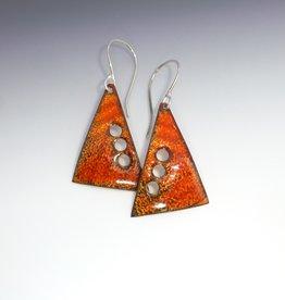 Anne Johnson AJE - Enamel Earrings - Corrugated Triangles
