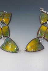 Anne Johnson AJE - Enameled Segment Bracelet  Yellow