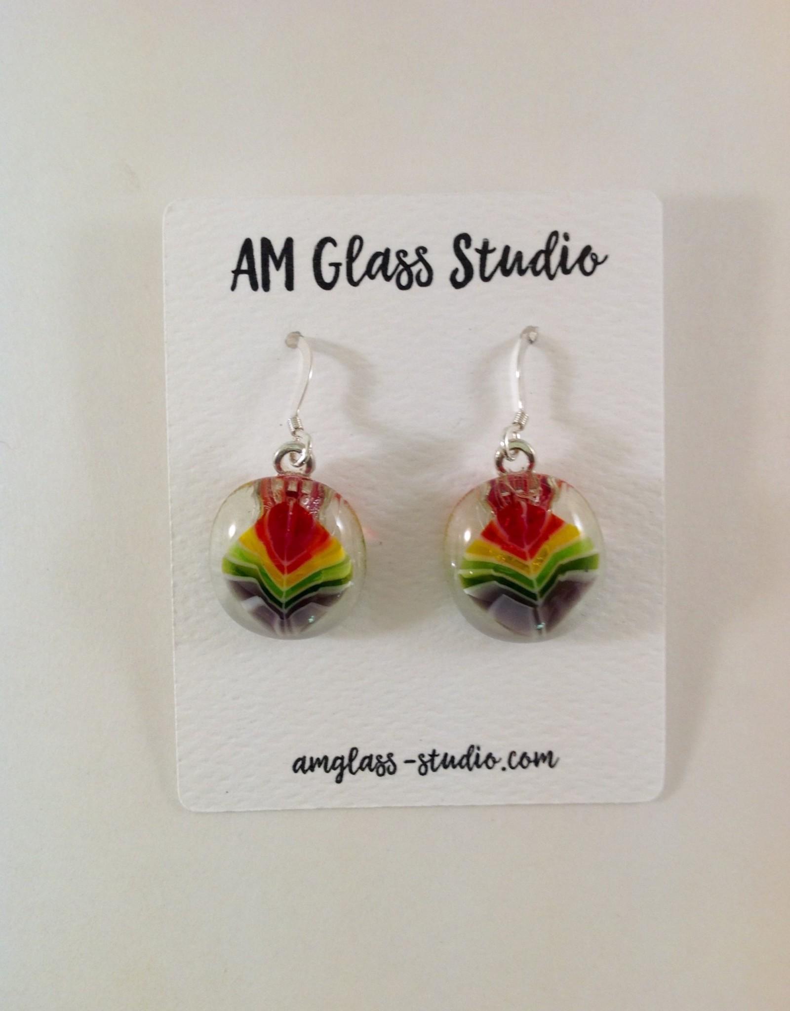 Ann Mackiernan Fused Glass Earrings - Extra Large- XL7