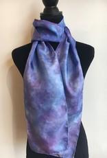 Ammi Brooks Silk Scarf/Ice dyed/blue/lavender
