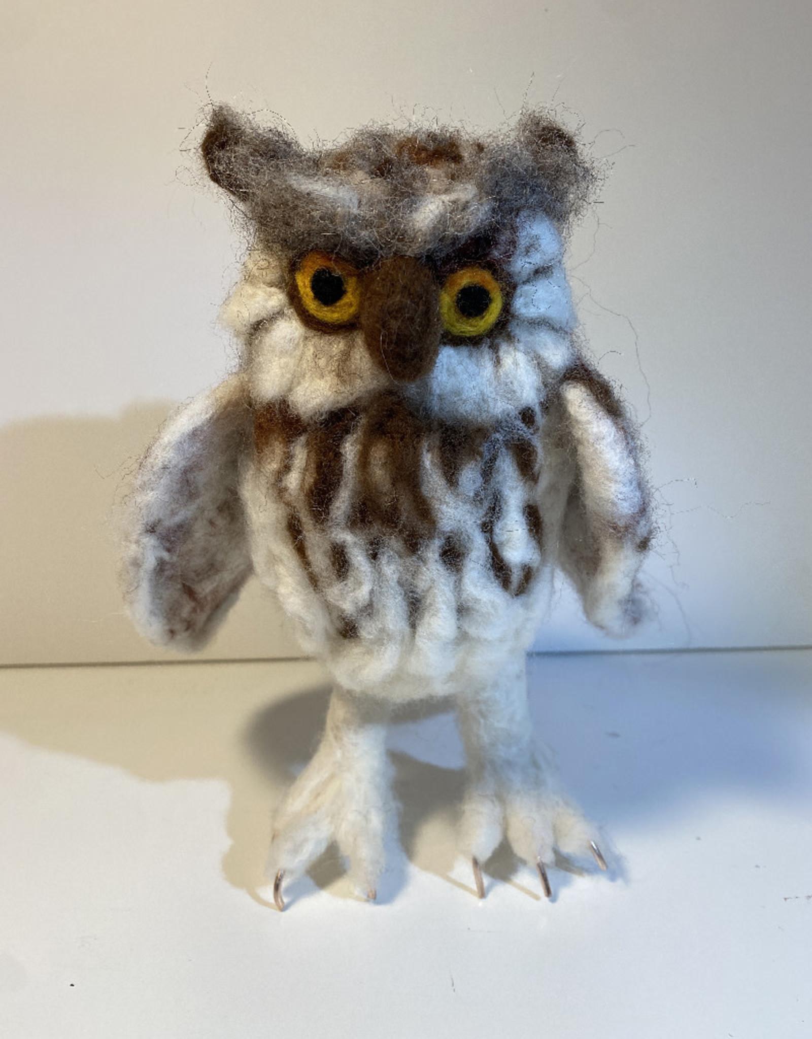 Jennifer Cook-Chrysos CD Artworks, Felted Owl, Large
