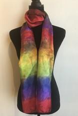 Ammi Brooks silk scarf/rainbow