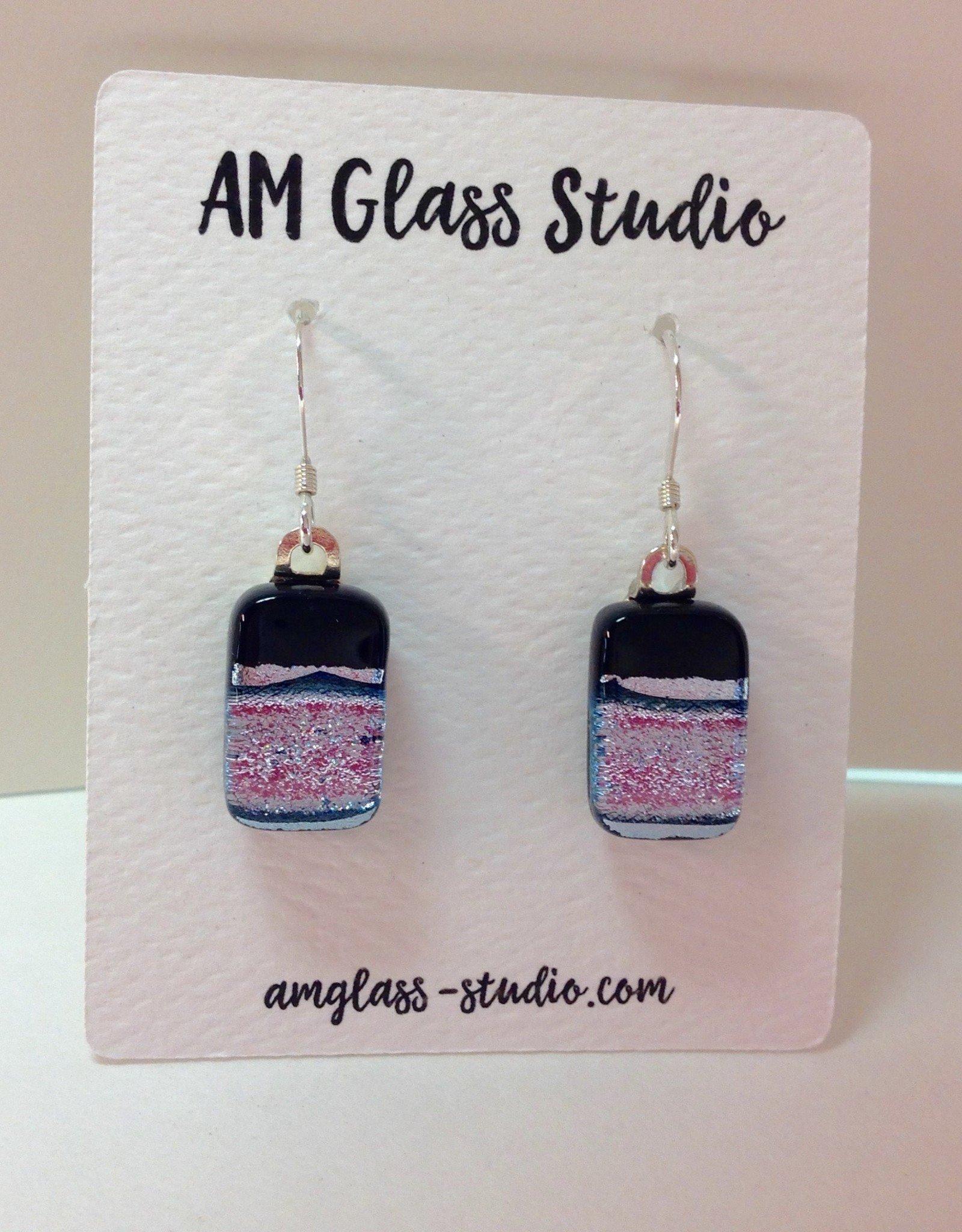 Ann Mackiernan Fused Glass Earrings - Medium - M56