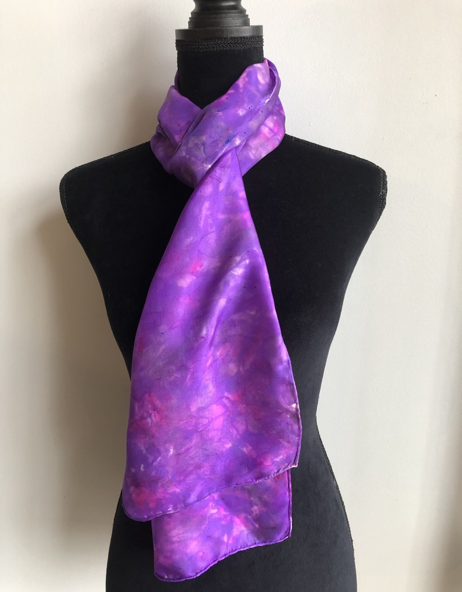 Ammi Brooks Silk Scarf/Lavender/pink/magenta