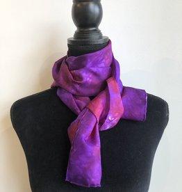 Ammi Brooks Silk Scarf/Purple /Red