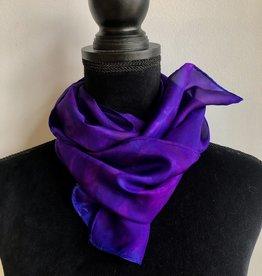 Ammi Brooks silk Scarf/purple