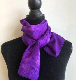 Ammi Brooks Silk Scarf/Purple and Magenta