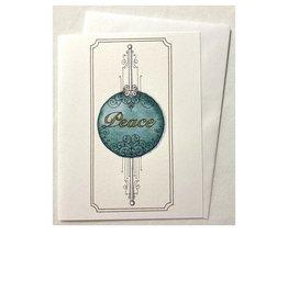 Kelly Casperson Peace Ornament notecard