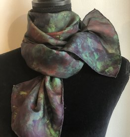 Ammi Brooks Silk Scarf/Green and Red