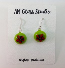 Ann Mackiernan Fused Glass Earrings Small - S21
