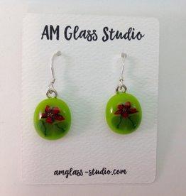 Ann Mackiernan Fused Glass Earrings - Medium - M58
