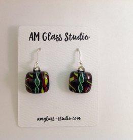 Ann Mackiernan Fused Glass Earrings - Medium - M60