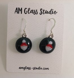 Ann Mackiernan Fused Glass Earrings - Medium - M59
