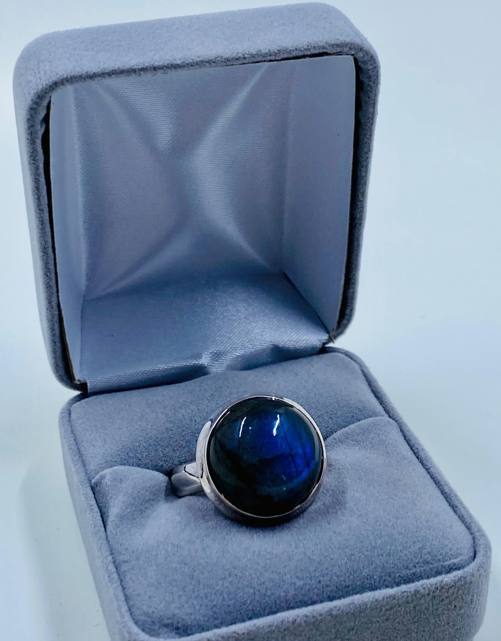 Round Labradorite Ring