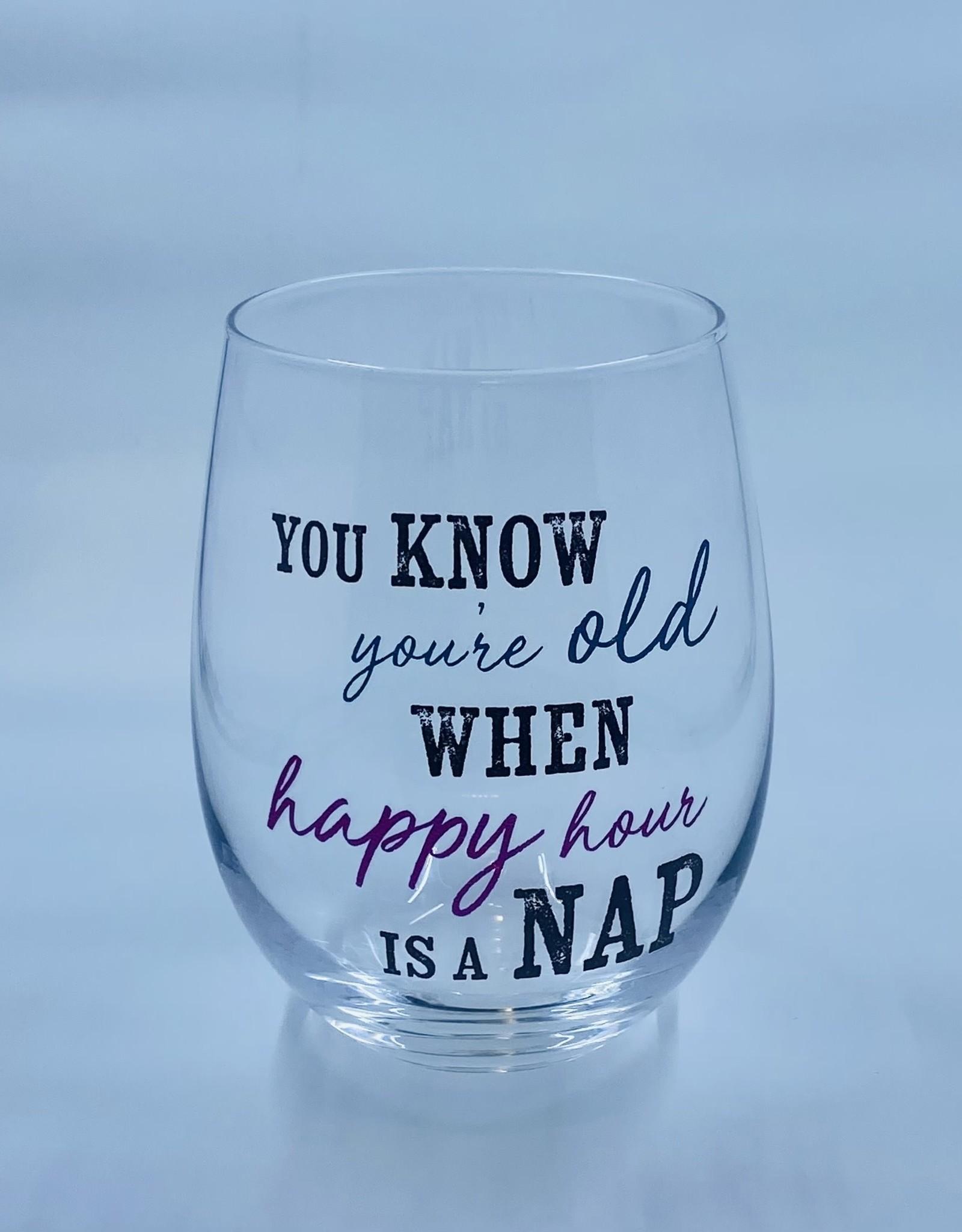ganz Stemless Wine Glass