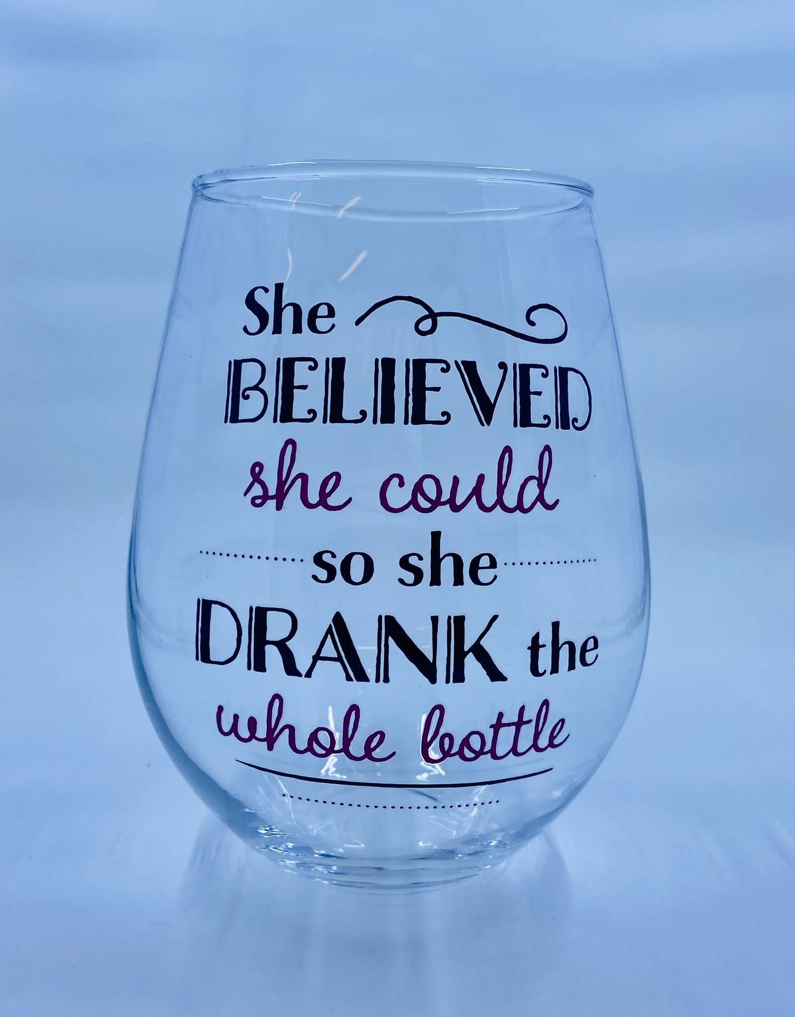 Large Stemless Wine Glass