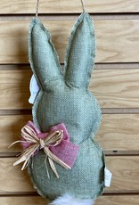 Burlap Easter bunny with pom tail