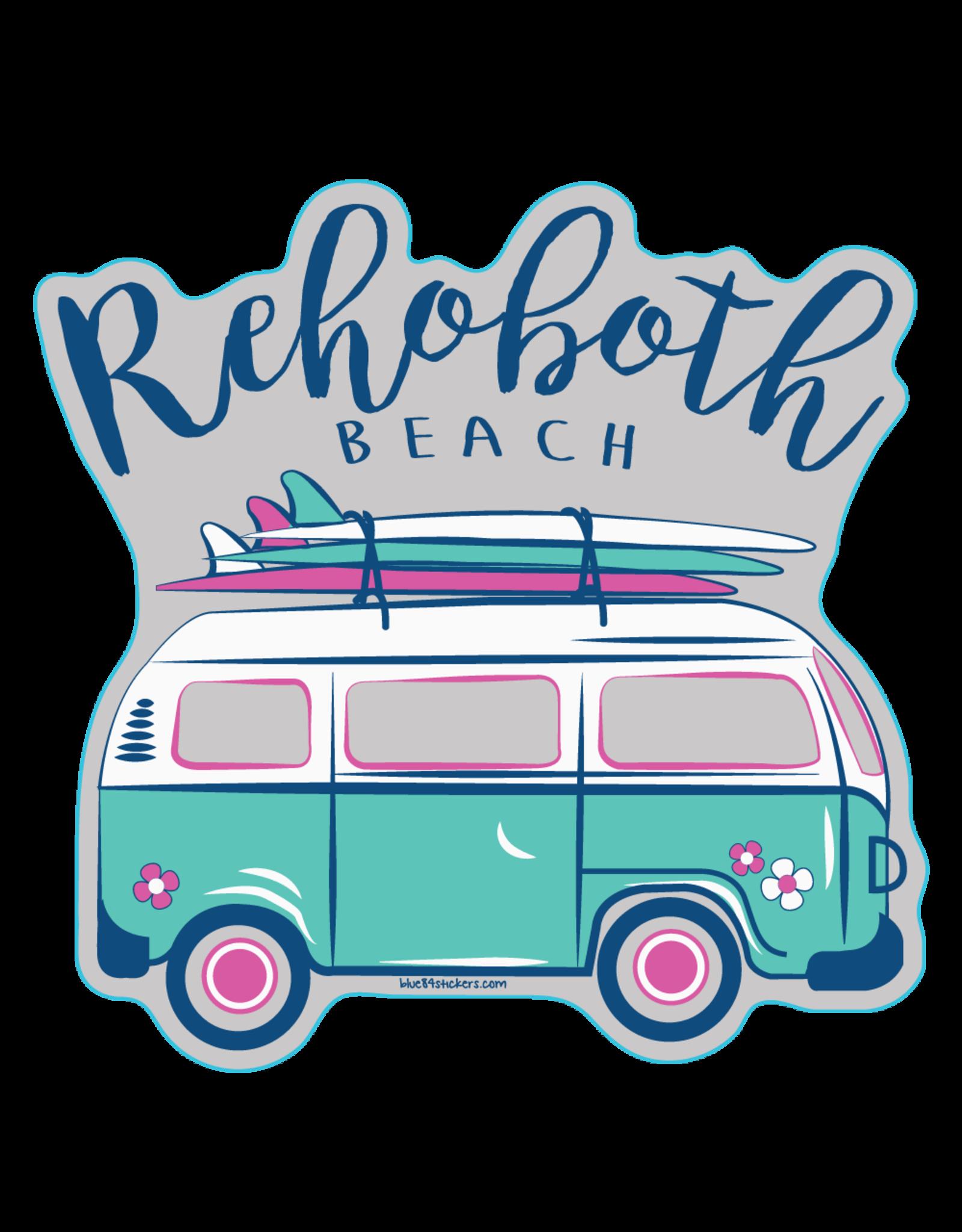 BLUE 84 BEACH STICKER AMERIGO SURF VAN