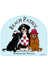 BLUE 84 BEACH STICKER BEACH PATROL DOGS