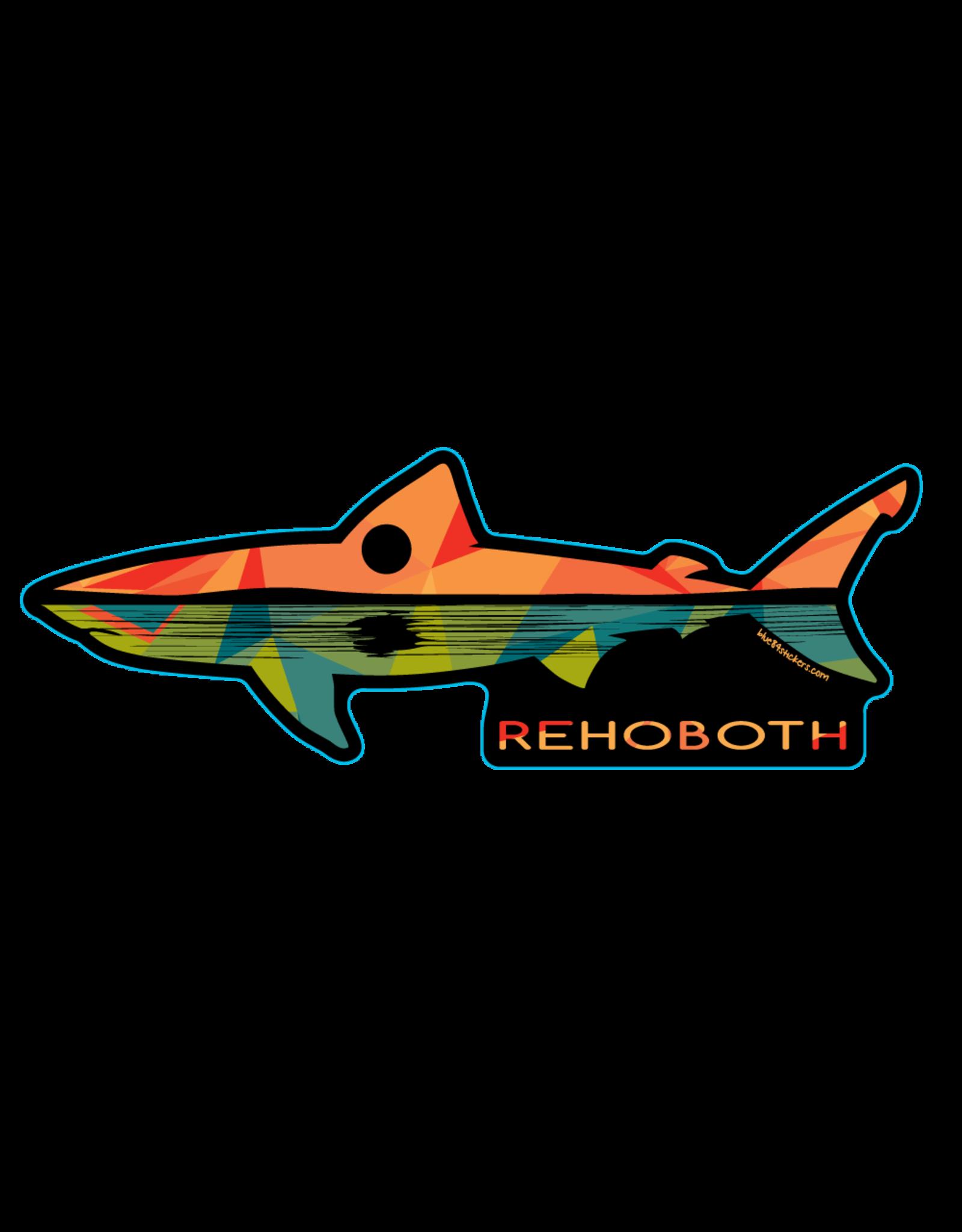 BLUE 84 BEACH STICKER REMNANT SHARK