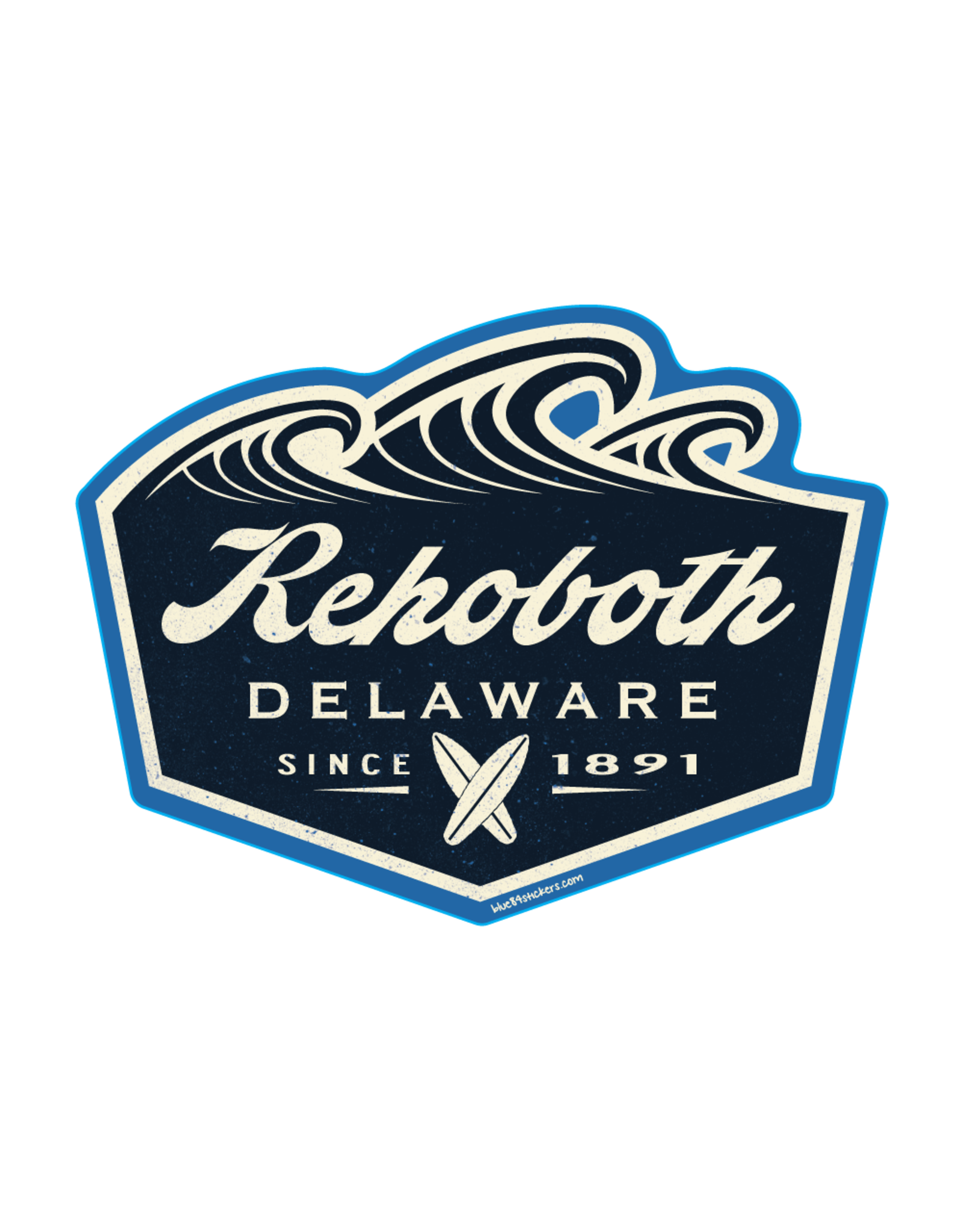 BLUE 84 BEACH STICKER TRUSTEE SURFBOARDS