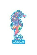 BLUE 84 BEACH STICKER TRUE AND GOOD SEAHORSE