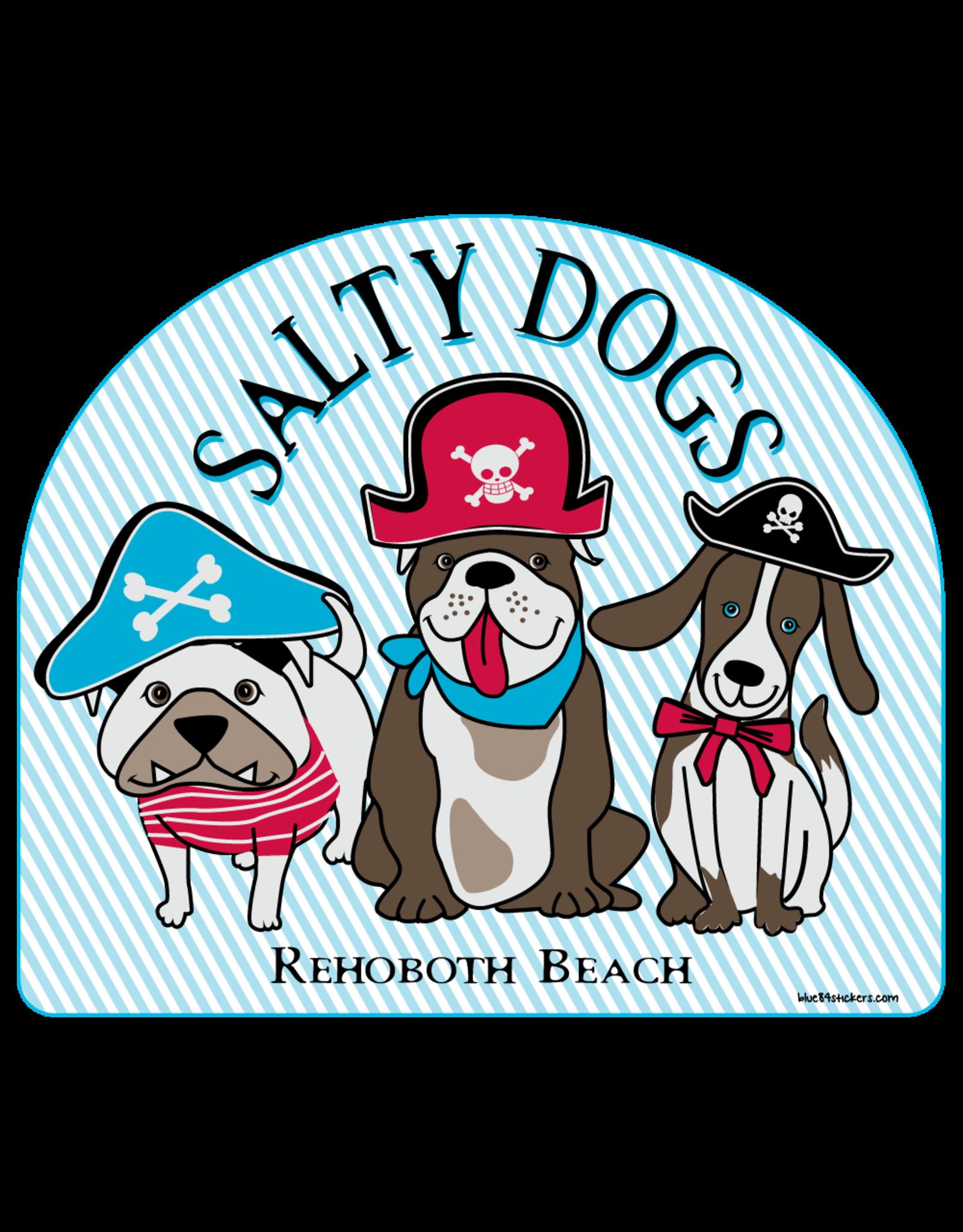 BLUE 84 BEACH STICKER SALTY DOGS