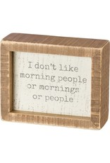 PRIMITIVES BY KATHY ATTITUDE BLOCK SIGNS DON'T LIKE MORNING PEOPLE