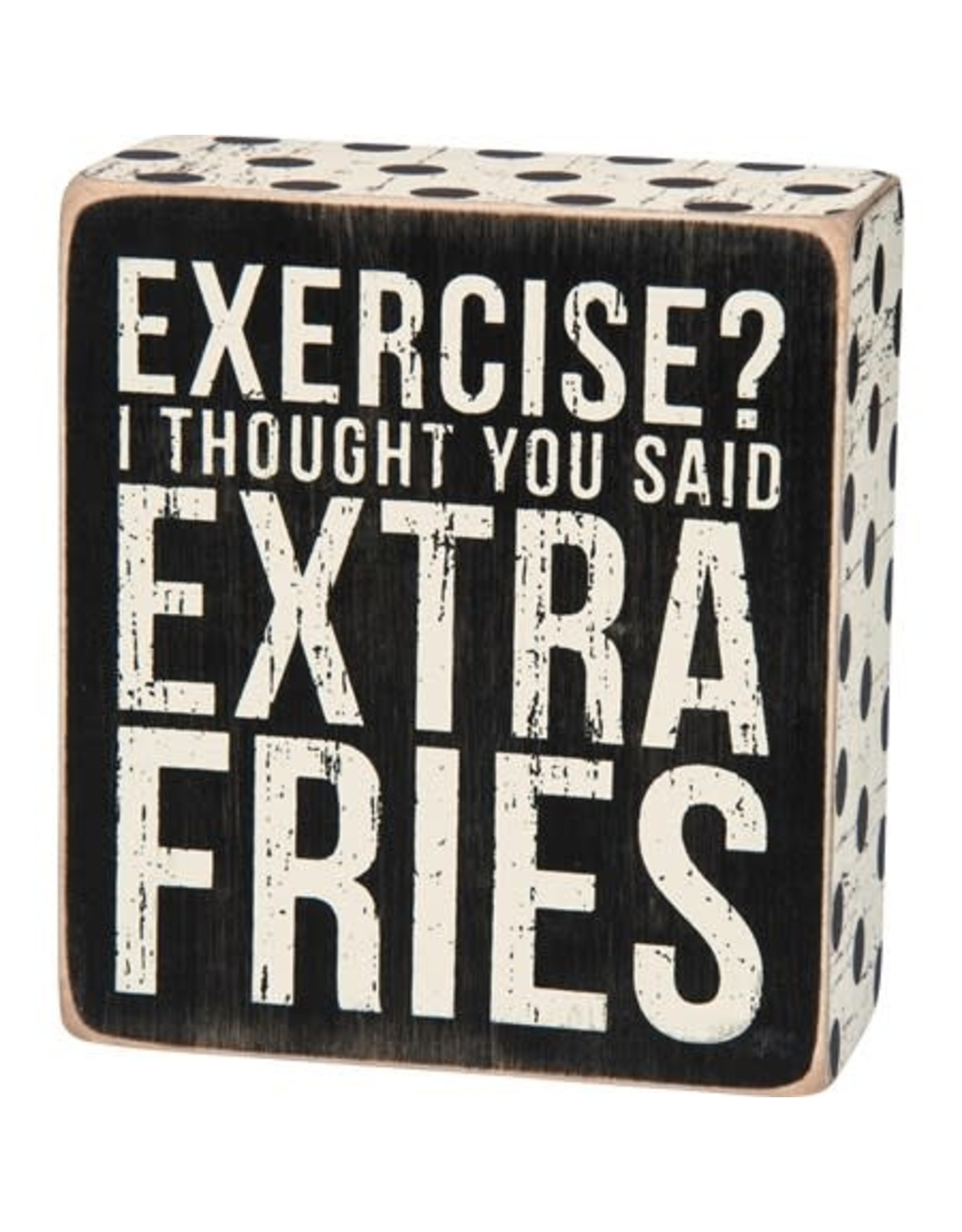 PRIMITIVES BY KATHY ATTITUDE BLOCK SIGNS EXERCISE? EXTRA FRIES