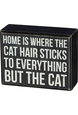 PRIMITIVES BY KATHY PET LOVER BLOCK SIGNS CAT HAIR STICKS TO EVERYTHING