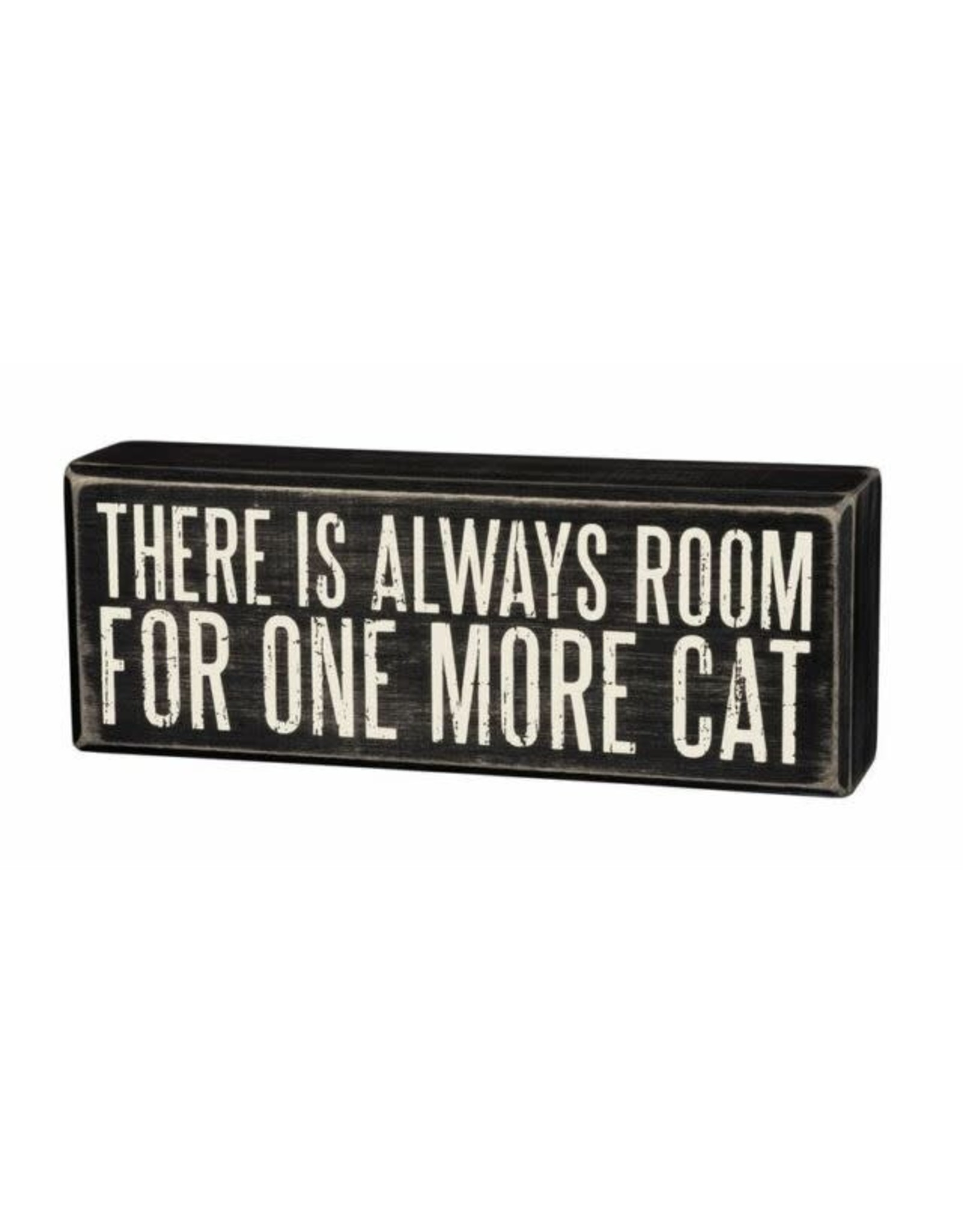 PRIMITIVES BY KATHY PET LOVER BLOCK SIGNS ALWAYS ROOM ONE MORE CAT