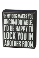 PRIMITIVES BY KATHY PET LOVER BLOCK SIGNS LOCK YOU IN ANOTHER ROOM DOG