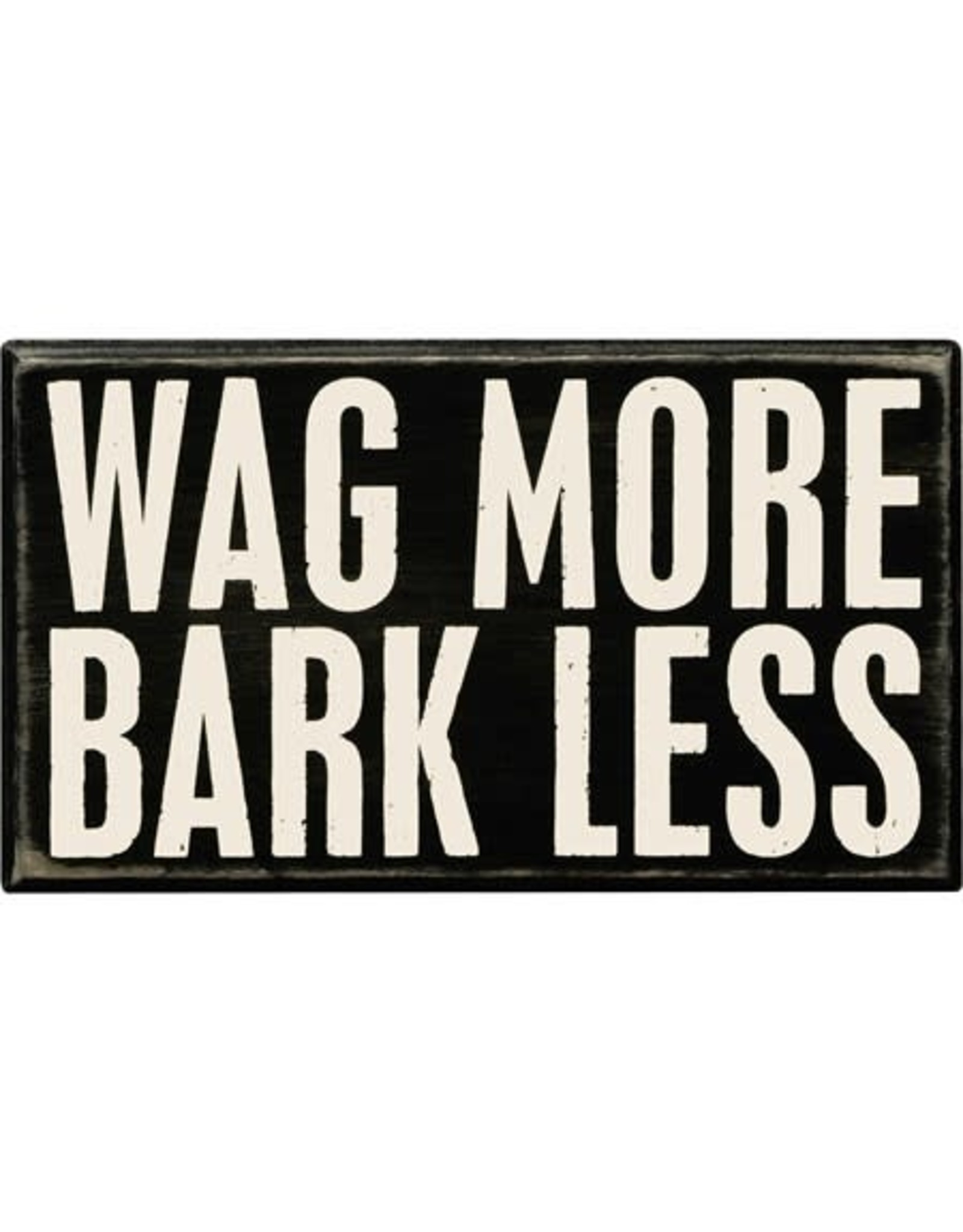 PRIMITIVES BY KATHY PET LOVER BLOCK SIGNS WAG MORE BARK LESS