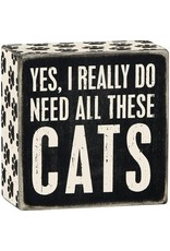 PRIMITIVES BY KATHY PET LOVER BLOCK SIGNS REALLY DO NEED ALL THESE CATS
